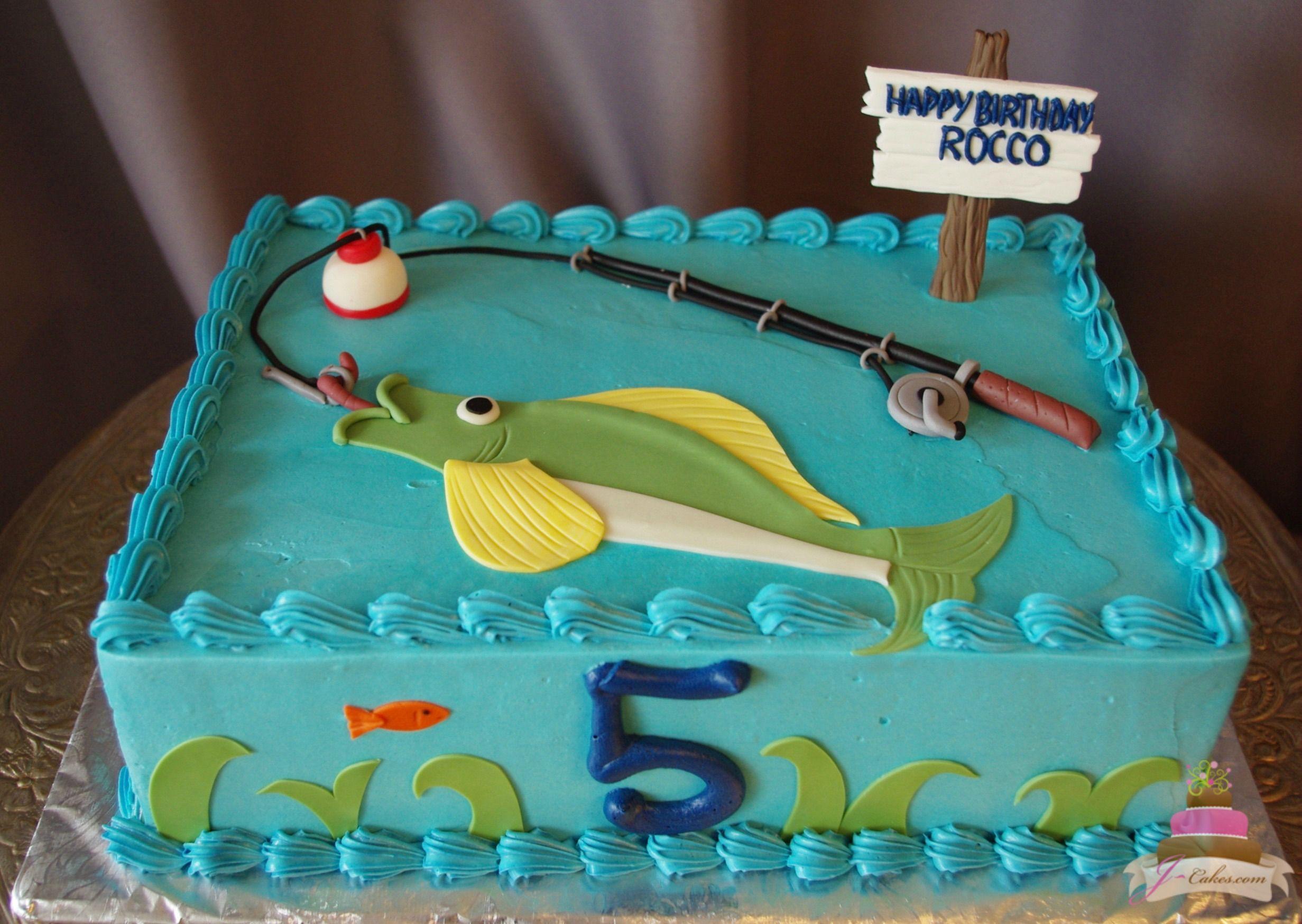 493 Fishing Theme Cake Kids Cakes Pinterest Fishing theme
