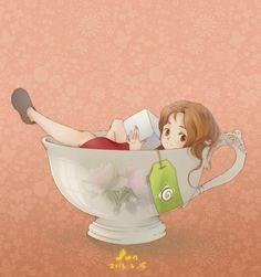 """Dessin inspiré du film d'animation japonais du studio Ghibli """"le monde secret d'Arrietty"""""""