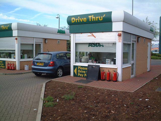 Asda Drive Thru Gas Station Station Asda