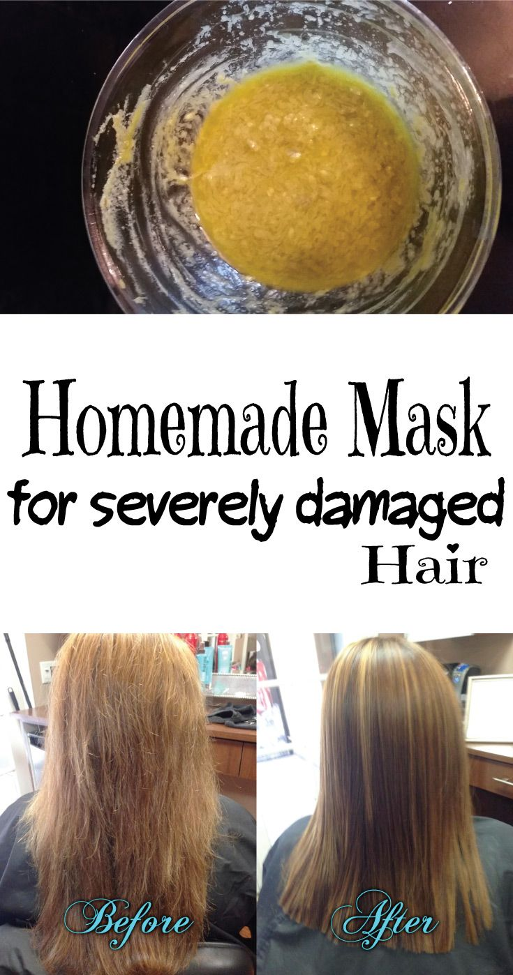 Homemade Mask For Severely Damaged Hair With Images Severely