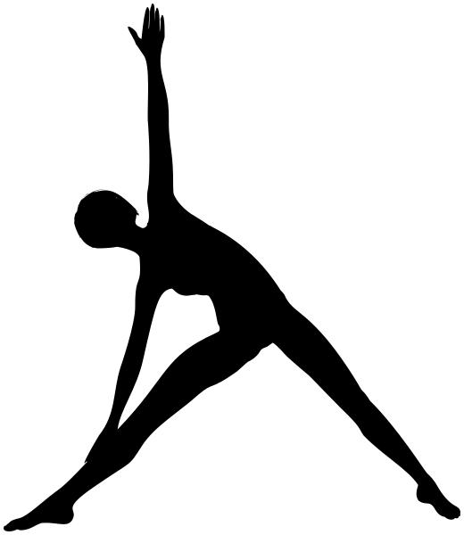 Trikonasana Silhouette Yoga Yoga Art Yoga Fitness