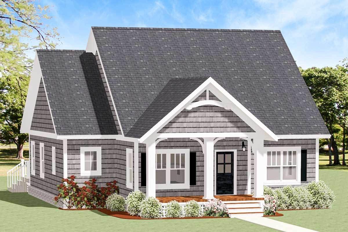 Plan 46312la Cozy And Compact Cottage Cottage House Plans House Plans Farmhouse New House Plans