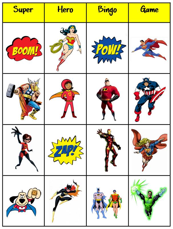 printable bingo cards | B-I-N-G-O | Pinterest | Superhelden ...