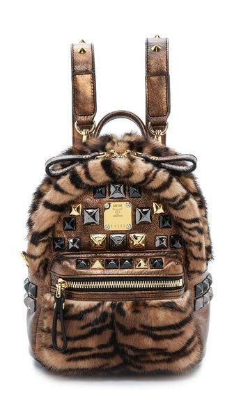 Mcm Baby Backpack With Fur