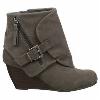 Blowfish Womens Burgundy Boots Bilocate Wedge Bootie Fawn