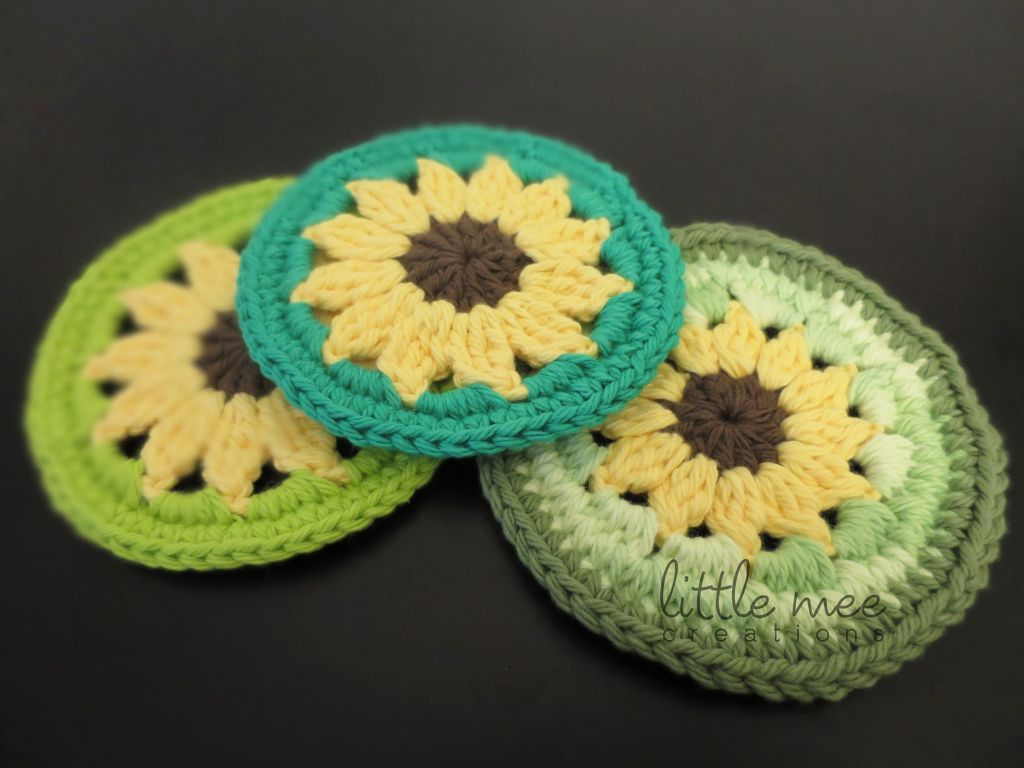 Sunflower coaster free crochet pattern by littlemeecreations sunflower coaster free crochet pattern by littlemeecreations bankloansurffo Images