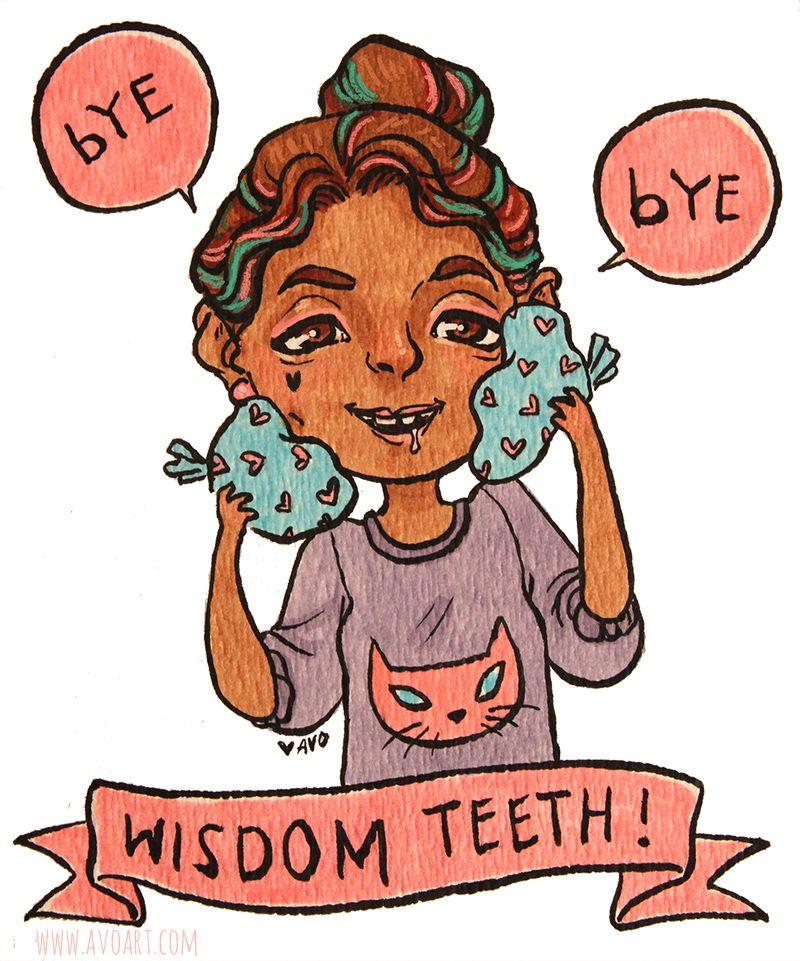 i got my wisdom teeth removed today yeaaaahh