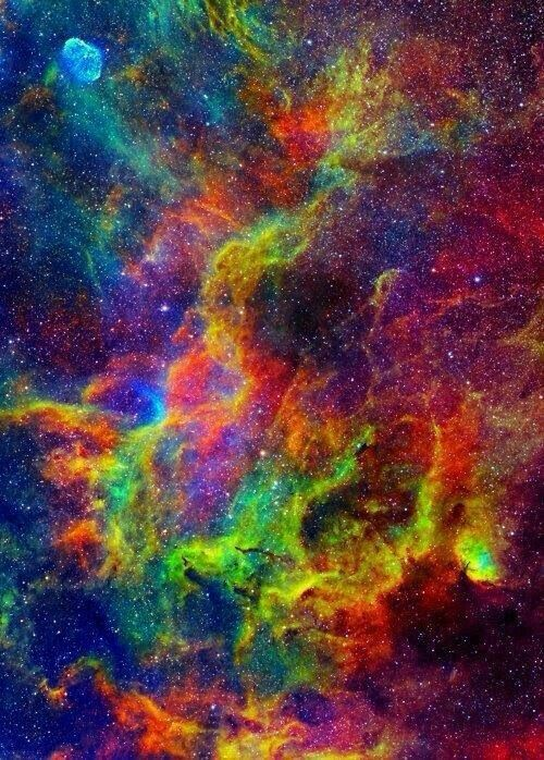 colorful galaxy #color #orange #green #yellow #wallpaper # ...