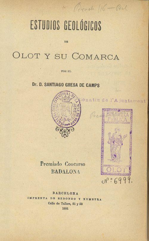 Document Històric Disponible A La Biblioteca D Olot I Al Centre De Documentació Del Pnzvgarrotxa Documentales Biblioteca
