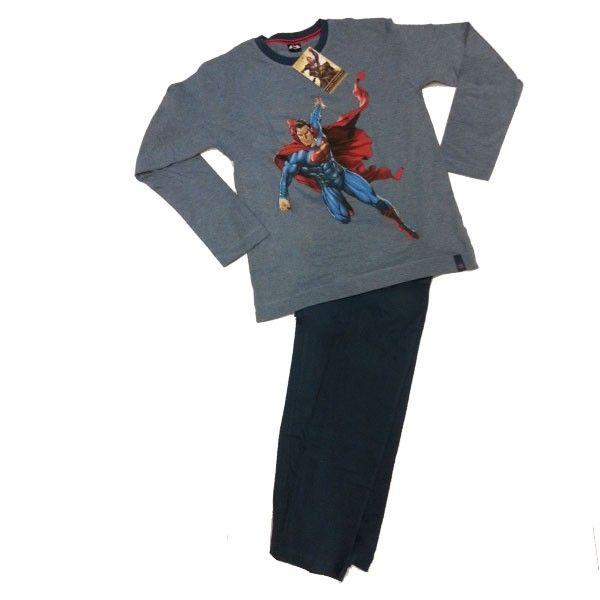 Para Hombre pijama Superman  100% algodón ,presentación en caja de regalo excelente calidad de color azul Fabricante nacional Punto Blanco ,