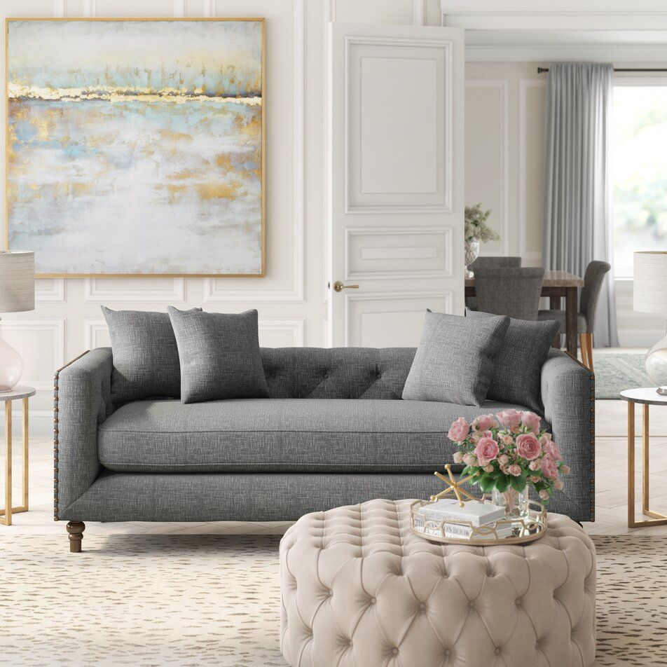 2000+ Glam Design Ideas   Wayfair   Living room decor grey couch, Glam living room, Pink living ...
