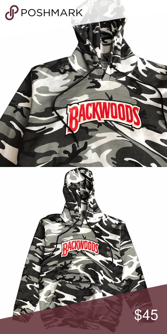 410ca67a65c4 BACKWOODS WHITE CAMO HOODIE BRAND NEW ITEM SCREEN PRINTED  SIXPANELSTUDIO.COM Sweaters
