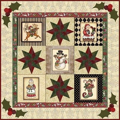 RJR Fabrics - Quilted Christmas. #HereHeComes kit features ... : christmas quilt fabric collections - Adamdwight.com