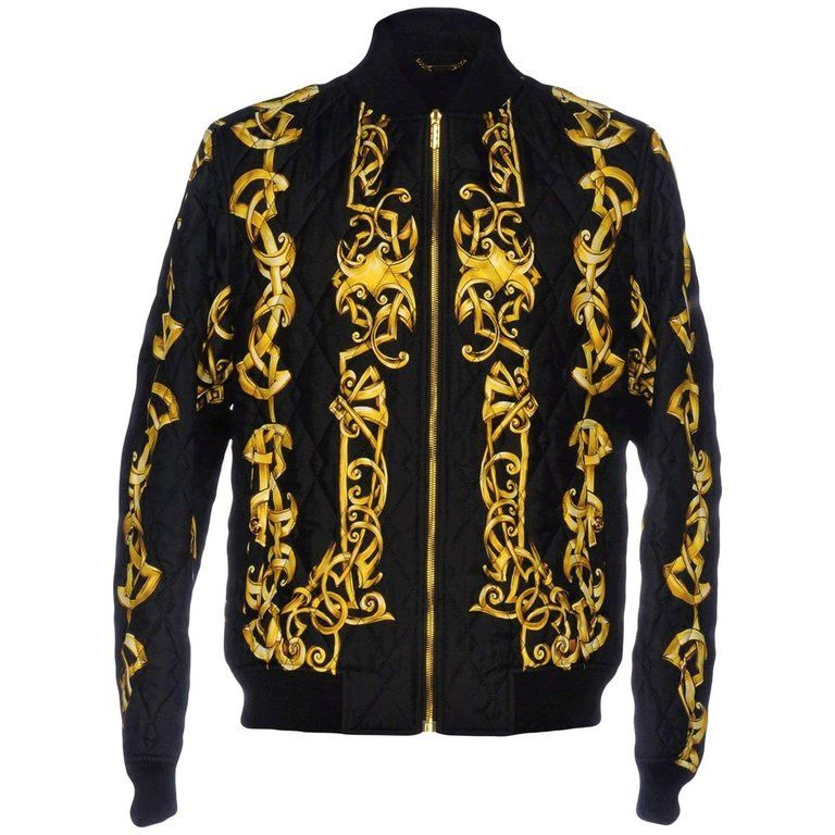 bc77a54d Versace Quilted 100% Silk Bomber Jacket For Men | Products in 2019 ...