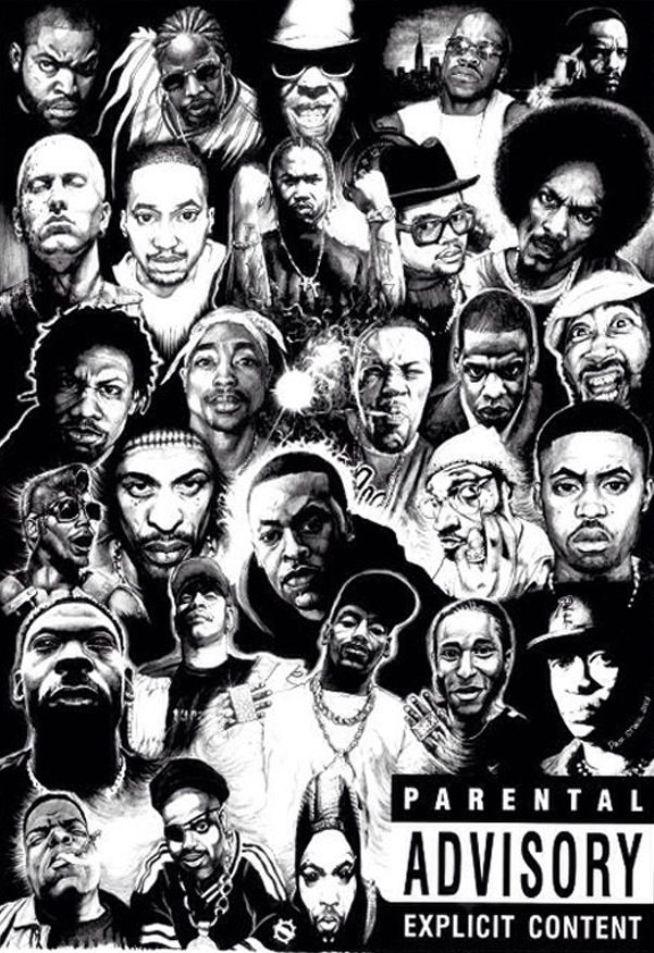 Rap Legends Hip Hop Poster Hip Hop Artwork Hip Hop Artists