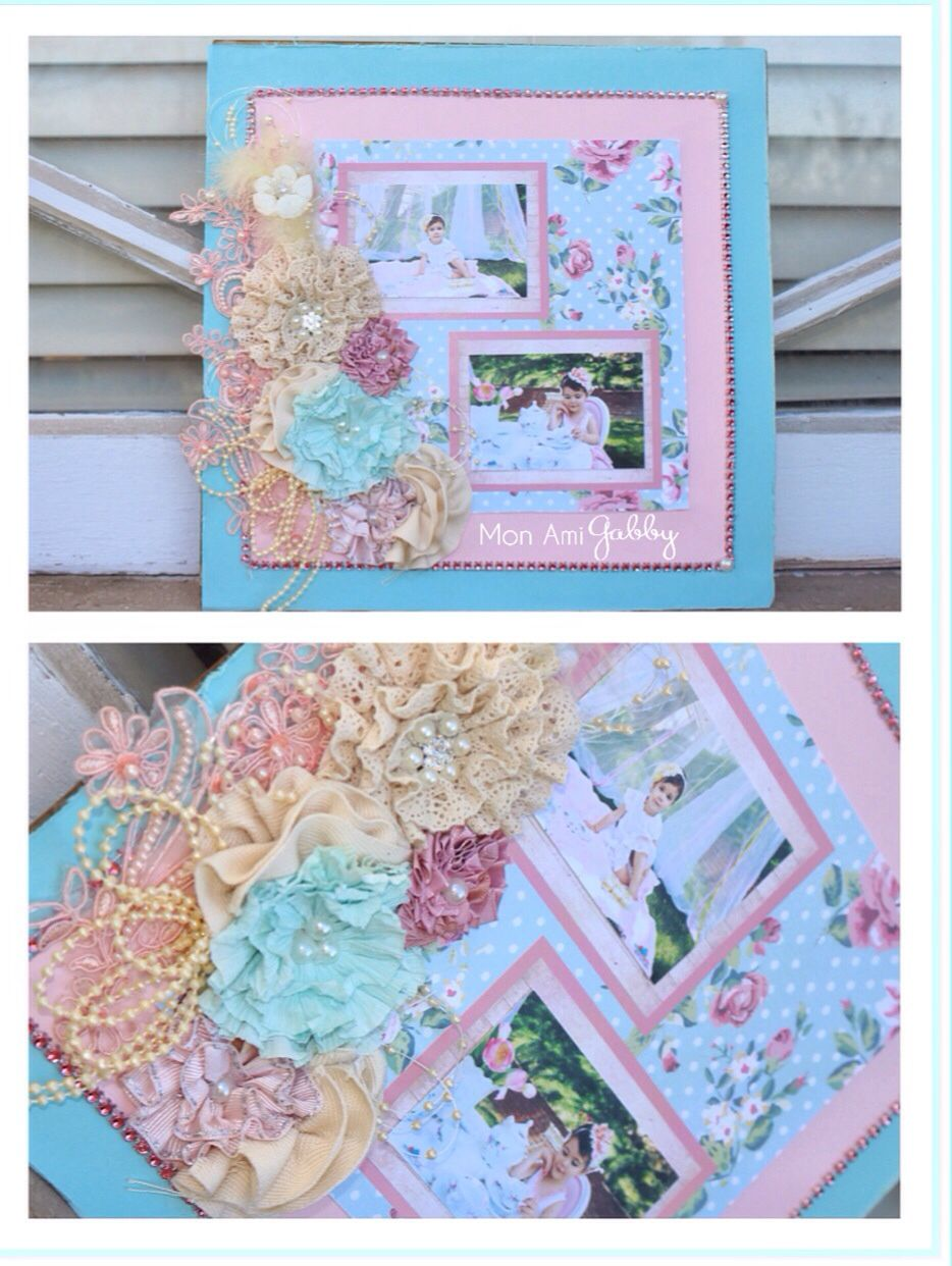 Shabby Chic 12x12page | Crafty, Creative, Scrapbook