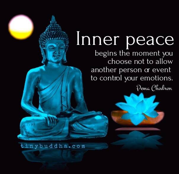 Inner Peace Begins The Moment You Choose Not To Allow Another