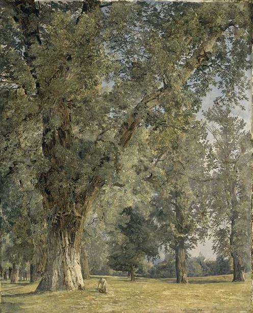 F.G.Waldmuller  vue du Prater à Vienne ( avec arbre à gauche )  Louvre