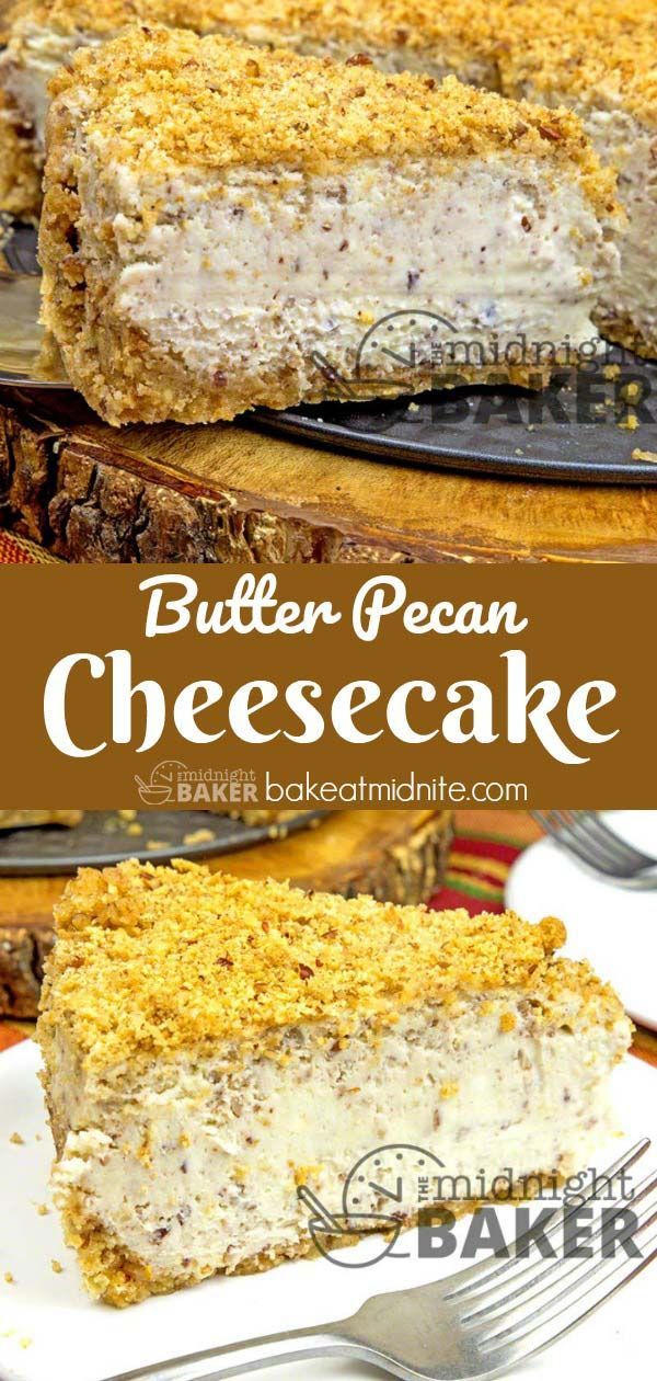 Butter Pecan Cheesecake - The Midnight Baker