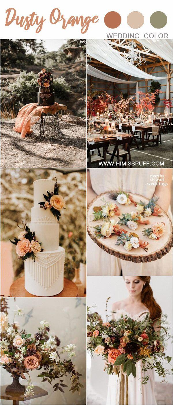 Wedding Color Trends: 30 Sunset Dusty Orange Wedding Color Ideas