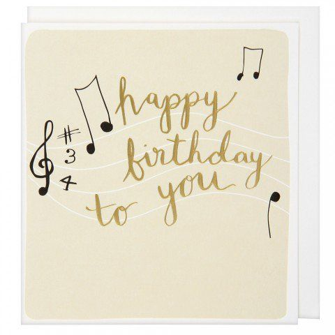 Music Notes Birthday Card Paper Chase 395 Jen Katie Jacob