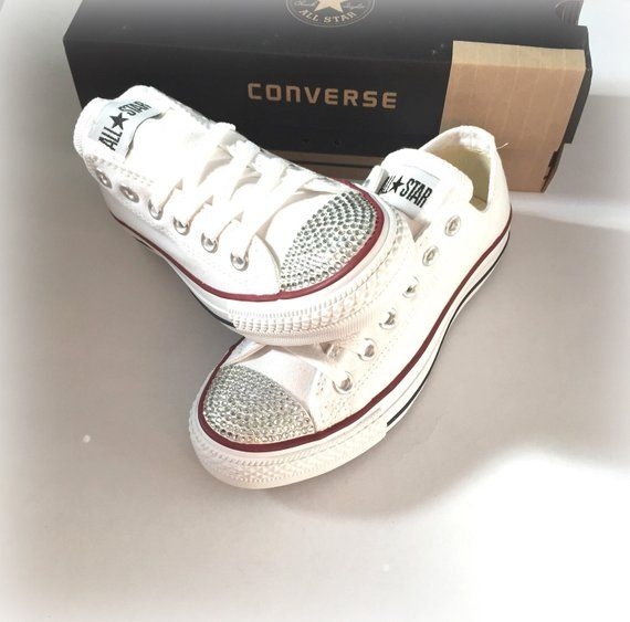 Rhinestone Converse Shoes 30b308936