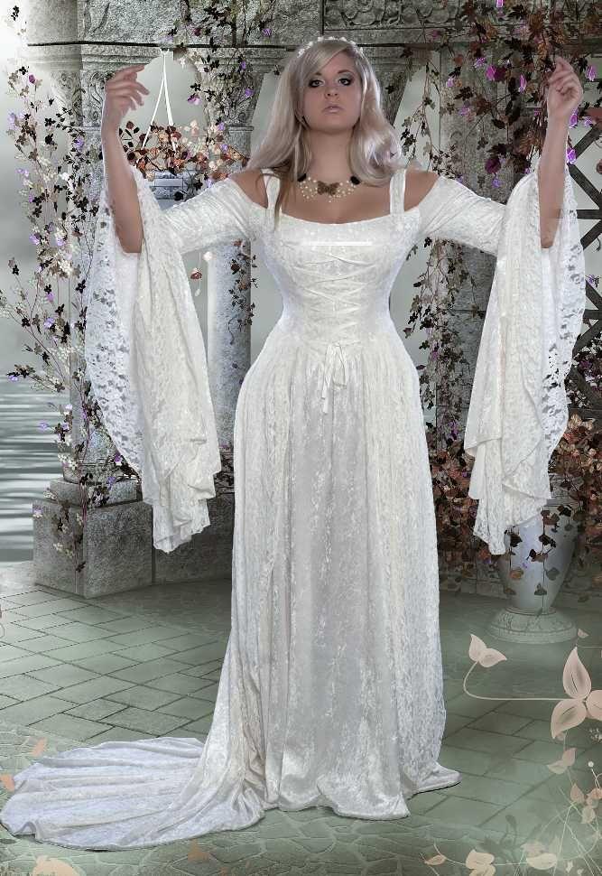 Gwendolyn Fairy Fantasy Medieval Wedding Gown | Medieval ...