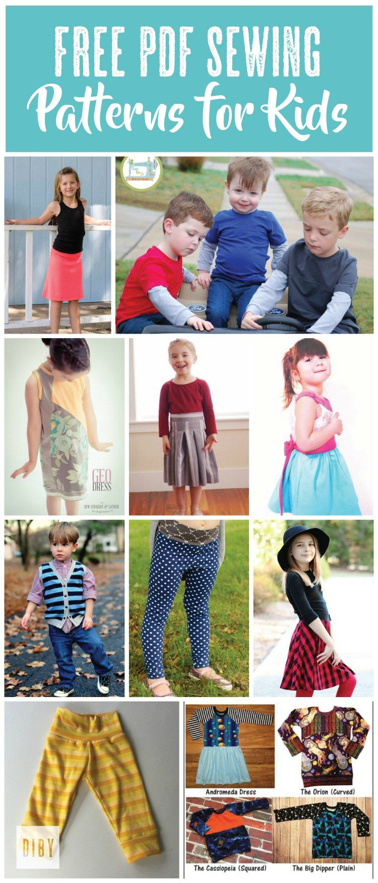 The Best Free Kid\'s PDF Sewing Patterns | Nähideen, für Kinder und Nähen
