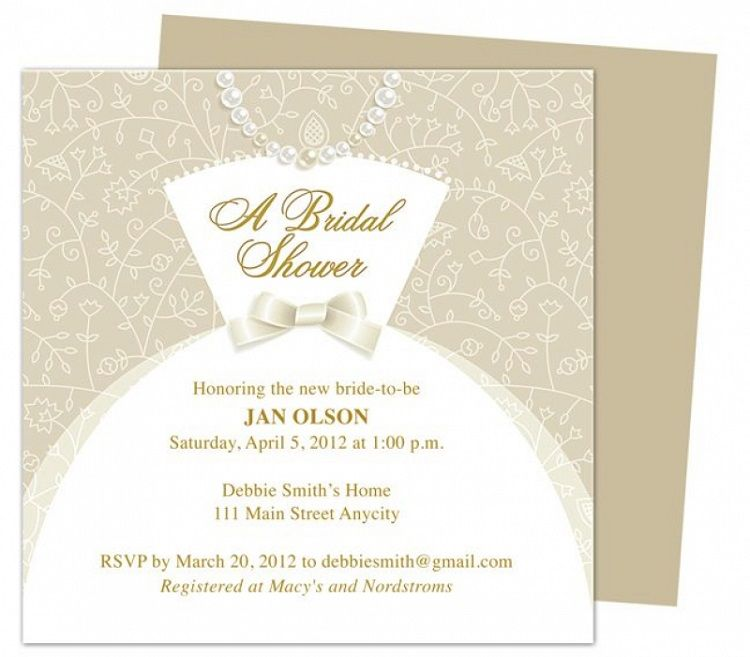 Bridal Shower Invitations Templates Microsoft Word