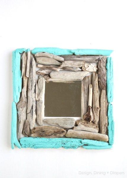 Marco hecho de pedazos de madera   Ideas Trendy   Pinterest ...