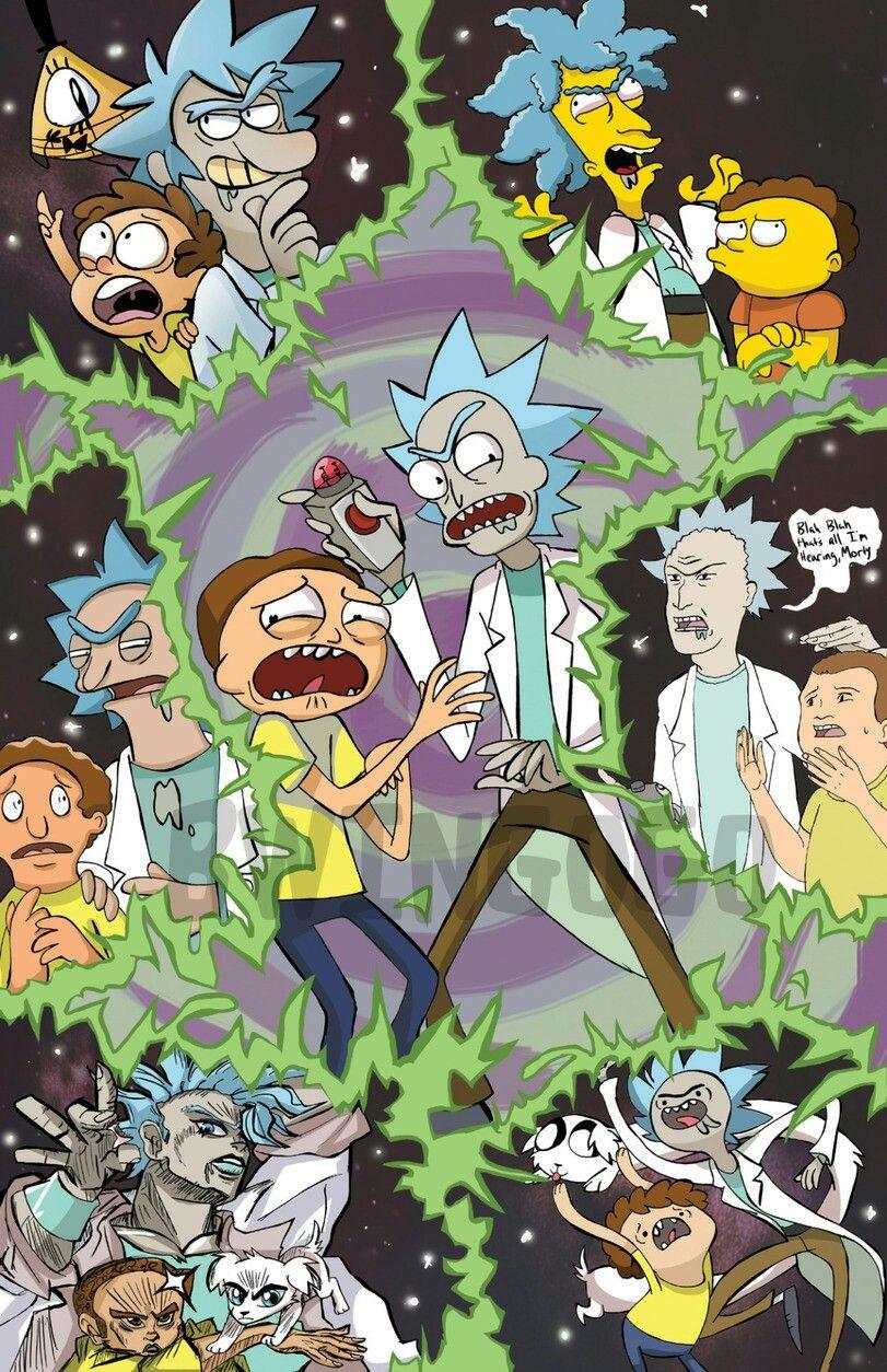 Rick And Morty Cartoon Multiverse Rick And Morty Poster Cartoon Rick And Morty