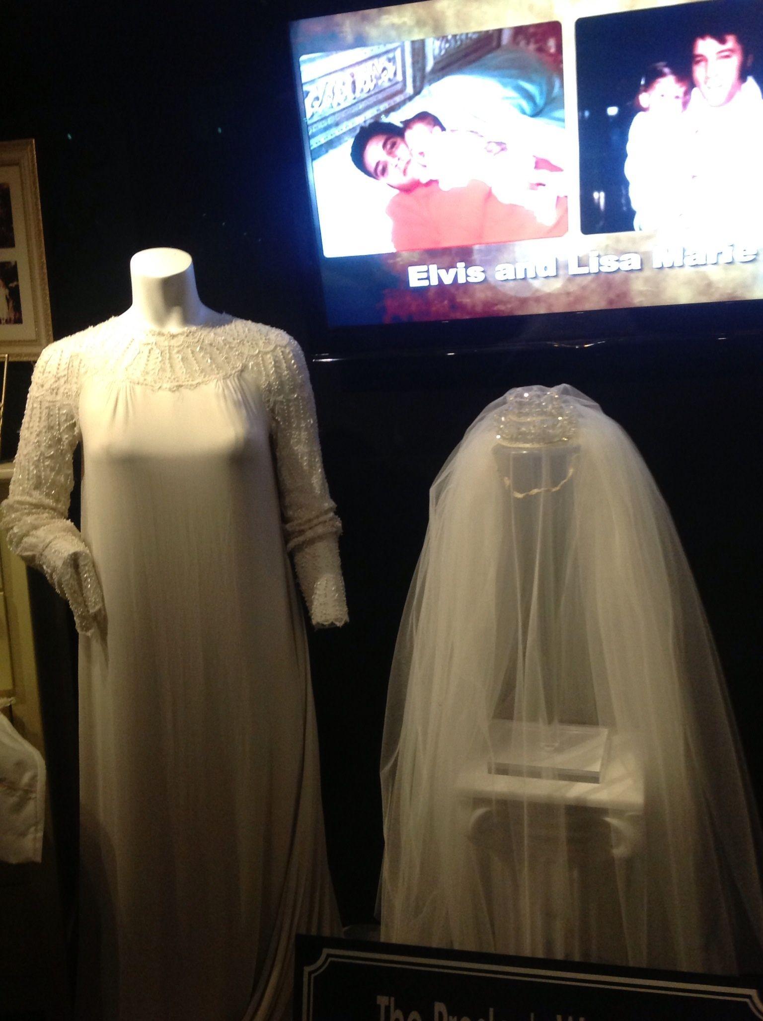 Priscilla Presleys Wedding Gown Displayed At Graceland Wedding