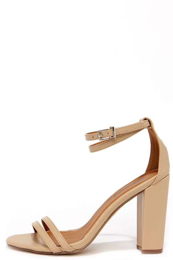 e92cd2ec7a23 One Little Song Nude High Heel Sandals at Lulus.com ...
