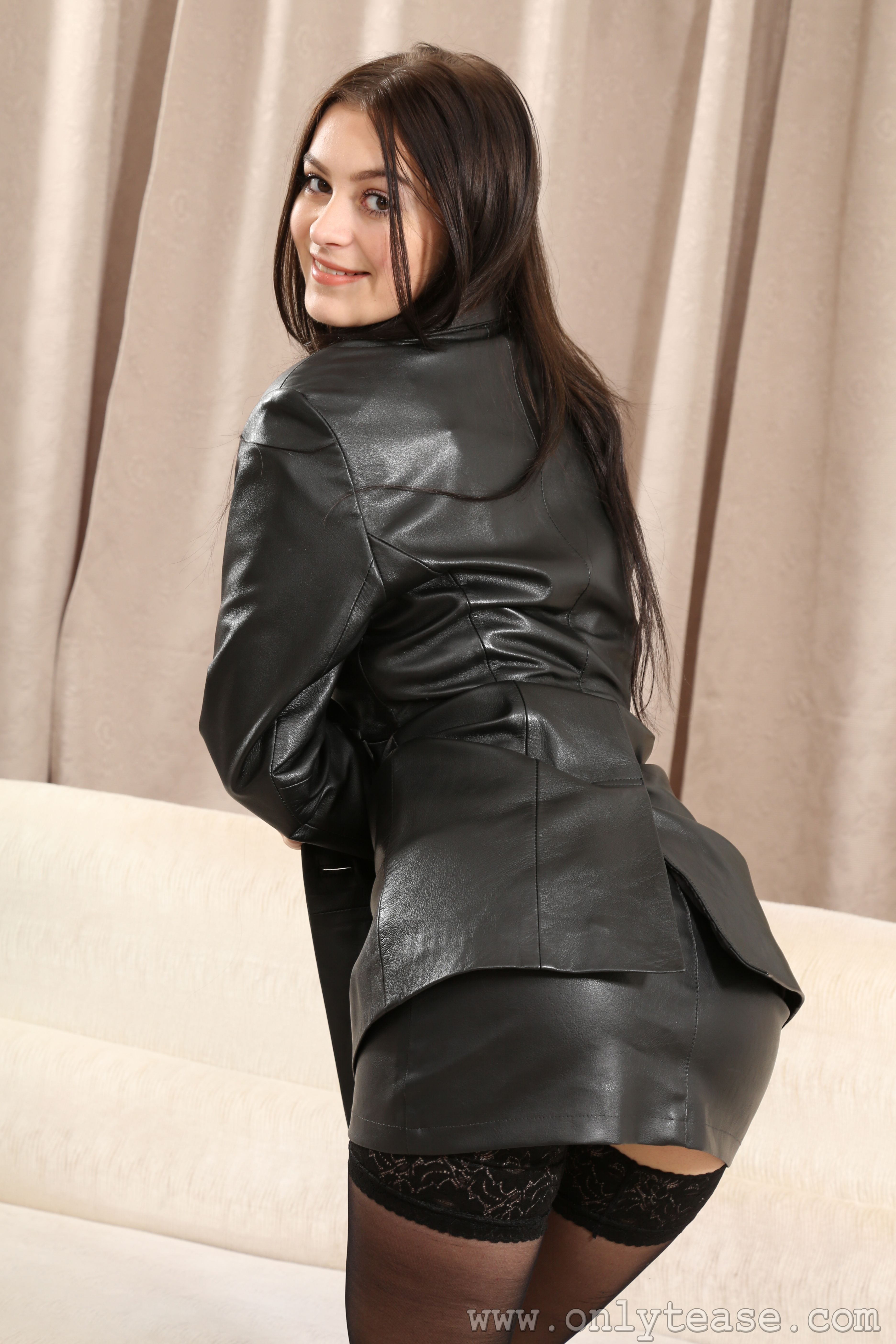 leather skirt jacket leather