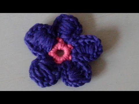 Blume Häkeln Einfach Und Schnell 6 Blätter Mit Spitze Youtube