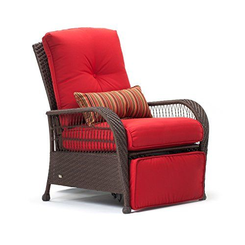 La-Z-Boy Outdoor Bristol Resin Wicker Patio Furniture Recliner (Scarlet Red) - La-Z-Boy Outdoor Bristol Resin Wicker Patio Furniture Recliner