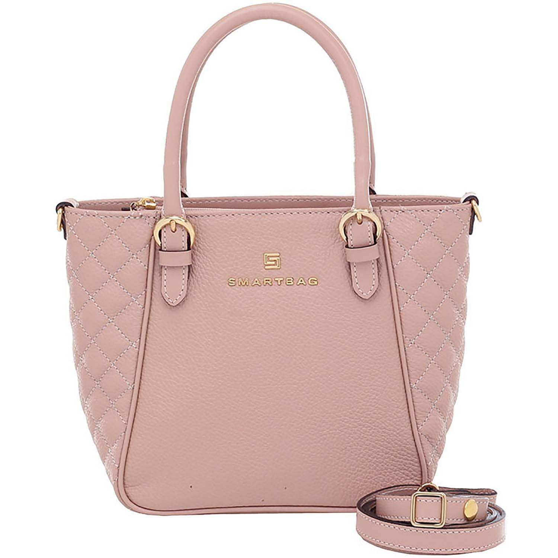 Bolsa Alça de Mão Couro Nude - Smartbag  8bfc2144541