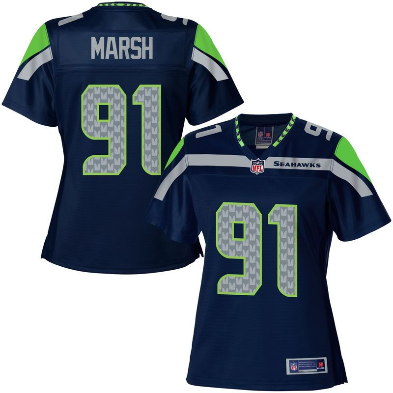 NFL Pro Line Women\'s Seattle Seahawks Cassius Marsh Team Color Jersey