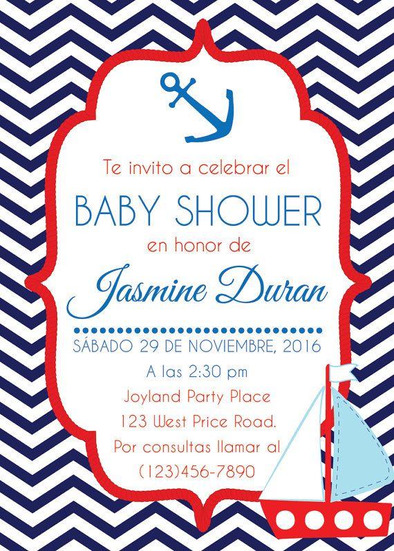 Invitación Para Baby Shower Náutica Invitación Baby Shower