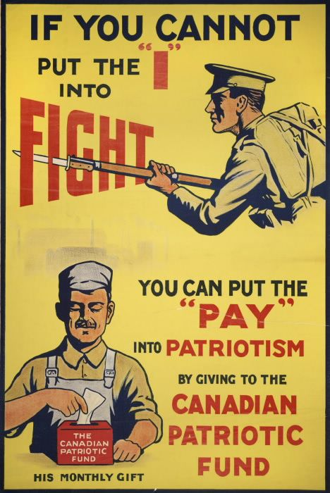 Nationalism of WWI illustrating to citizens that if they couldn't ...