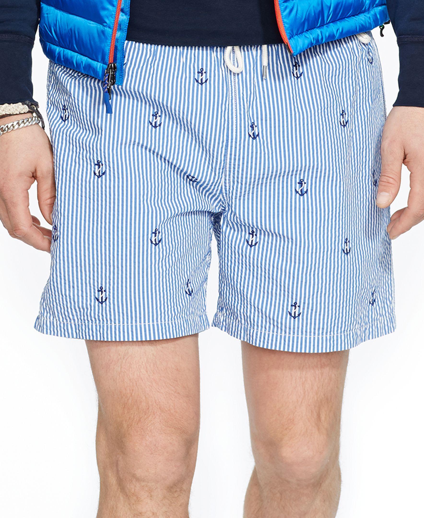 6d7c8189df Polo Ralph Lauren Traveler Anchor-Print Swim Short | Products | Swim ...