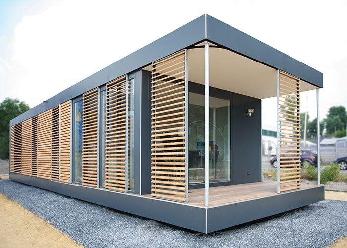 neues wohnen im cubig designhaus minihaus contenedores pinterest minihaus neuer und. Black Bedroom Furniture Sets. Home Design Ideas