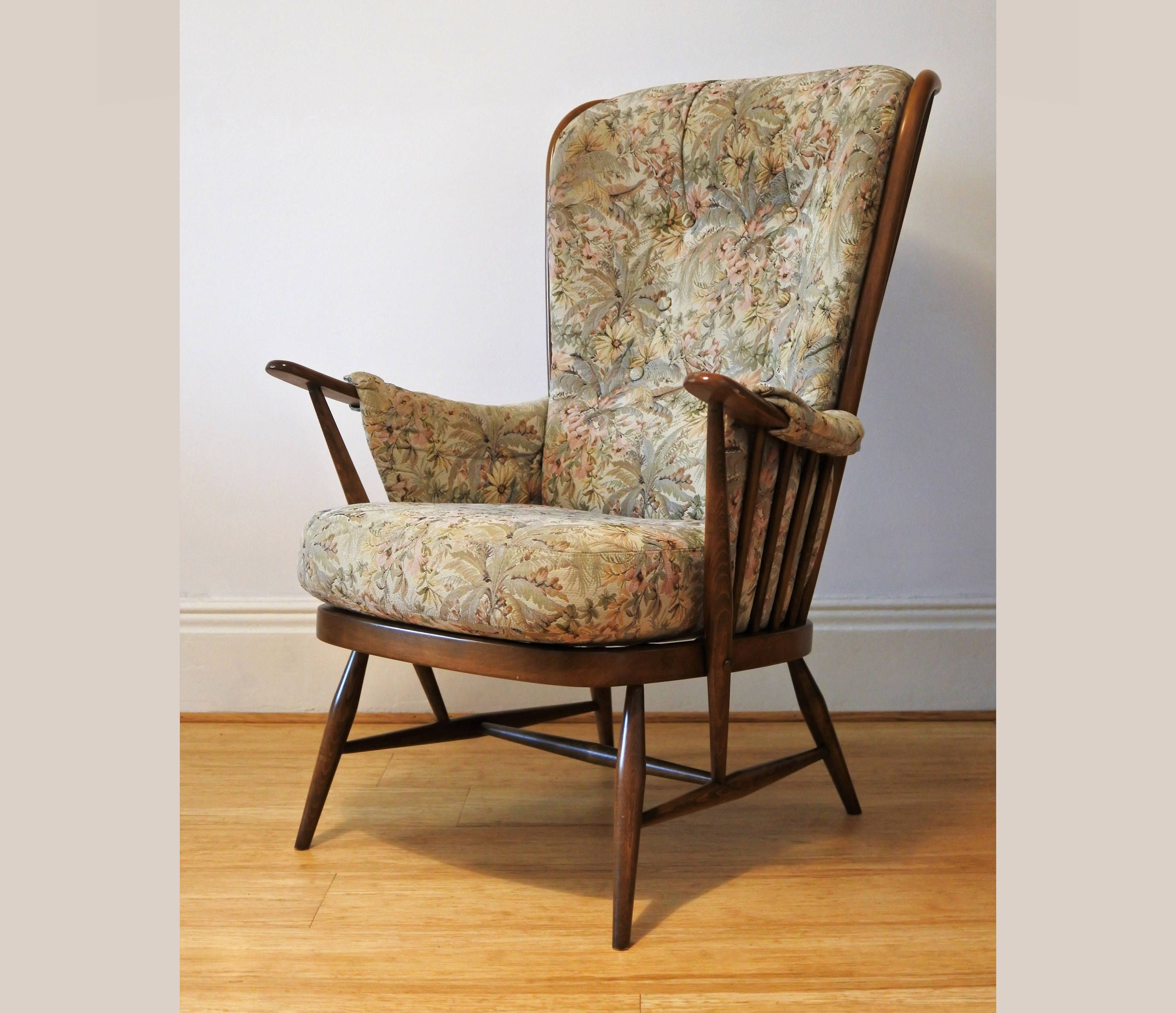 Ercol Windsor Evergreen Easy Chair In Golden Dawn Finish 913 Etsy Easy Chair Ercol Chair