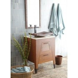 Trinidad 24 Vanity Handcrafted From Solid Sustainable Woven