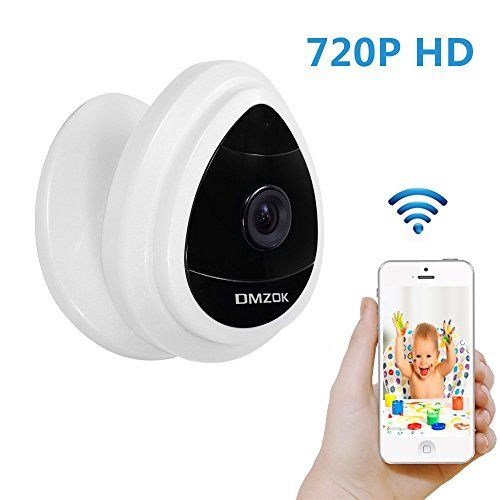 DMZOK Mini Wifi Security IP Camera, 720P Home Surveillance Camera Wireless, Baby Pet Monitor HD, Motion Detection, Remote Access to Mobile App for Home Security (720P, Day Vision Only) - $159.99