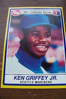 Seattle Mariners Ken Griffey Jr Post Cereal 1991 Collector