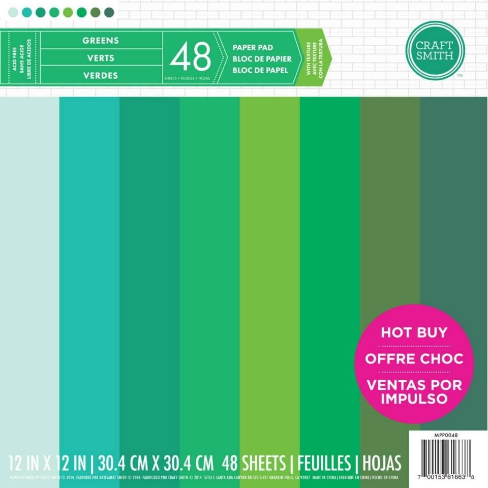 Craft Smith Green Paper Pad 12 X 12 Paper Pads Green Paper