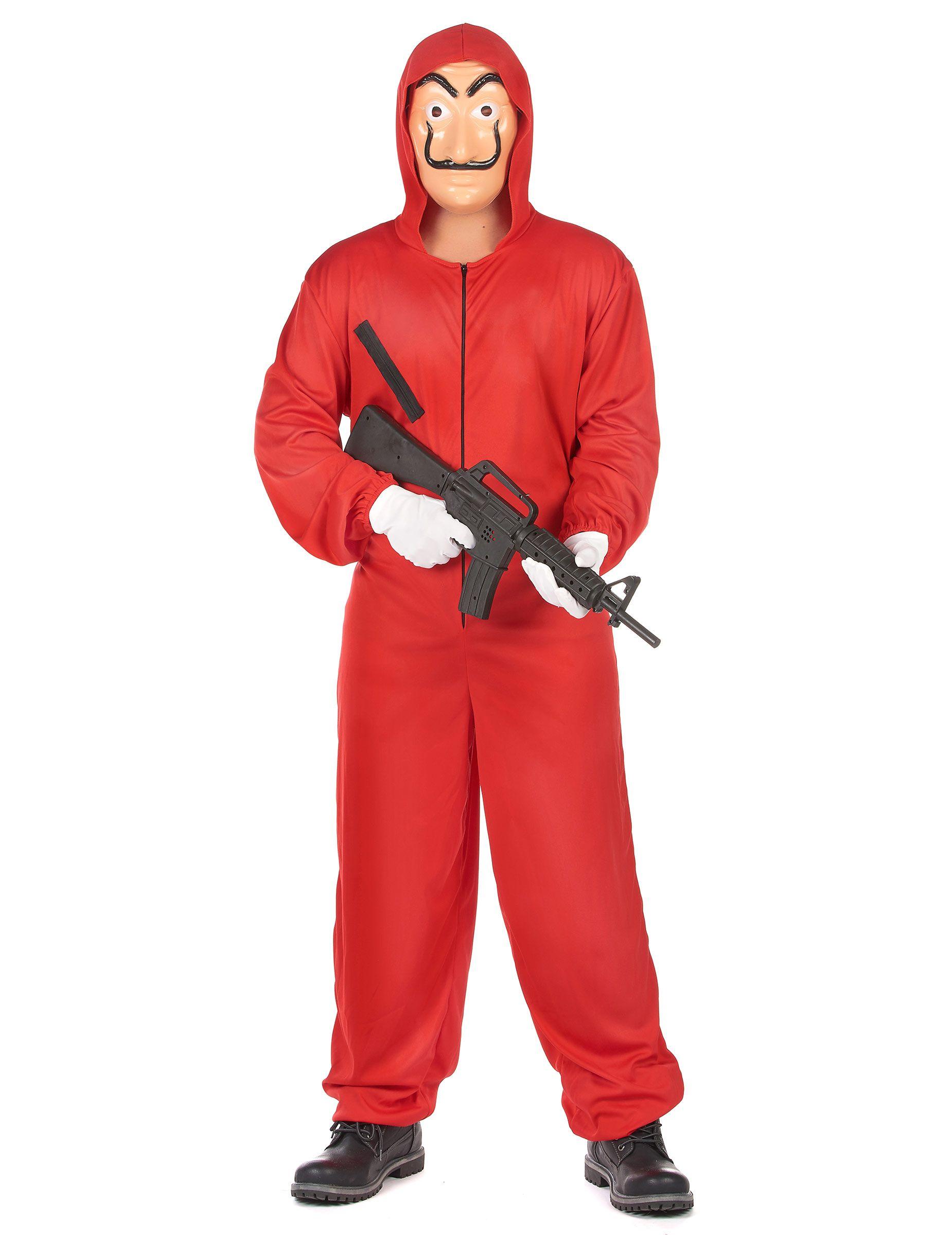 Costume tuta rossa da bandito per adulto su VegaooParty 3444cf16d48