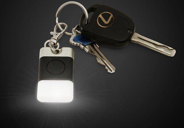 Glowing LED Key Fob –  6  night  light  keychain  lightweight  portable   battery  flashlight 138f64b9b661