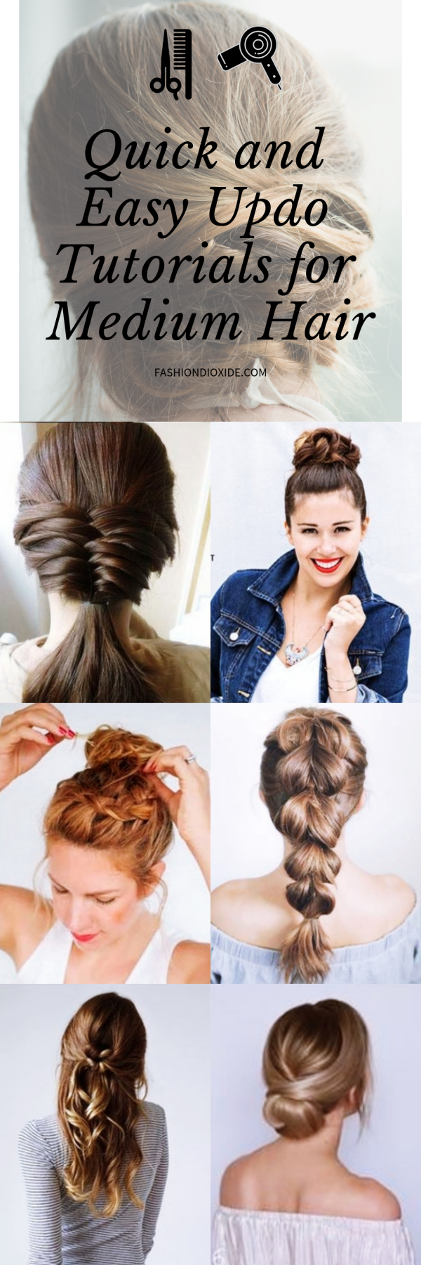 45 Quick and Easy Updo Tutorials for Medium Hair # ...